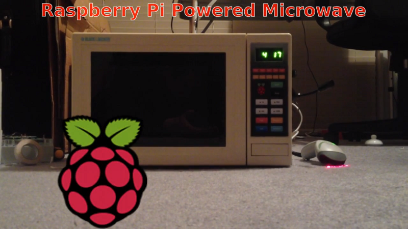 Voice controlled microwave powered by the Raspberry Pi