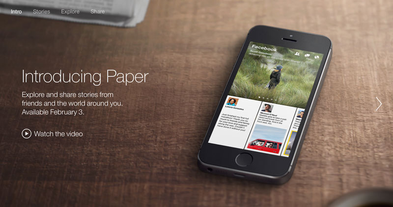 Facebook Paper will become your next morning read