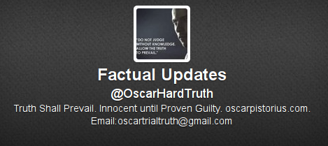 Pistorius defence team sets up 'Hard Truth' Twitter feed