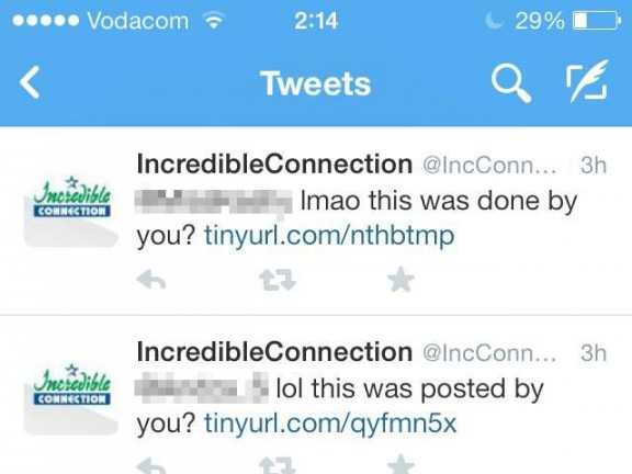 Incredible Connection's Twitter hacked: says customer data is safe