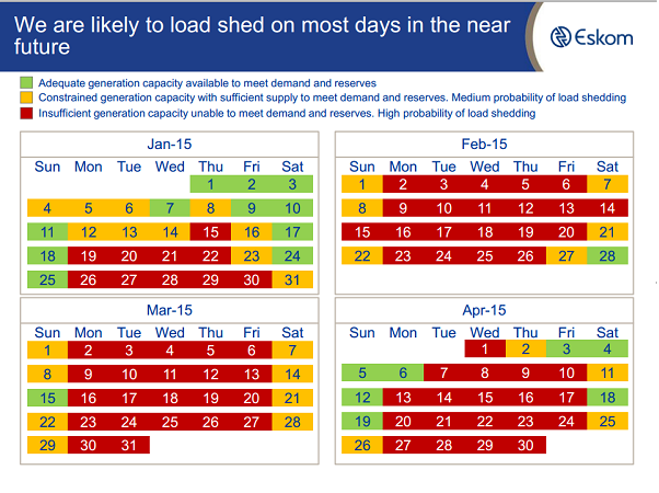 Eskom starts the week with loadshedding Stage 1 - htxt africa