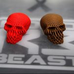 RoboBeast cut 3D print speed by a fifth with wide nozzles and halogen print bed