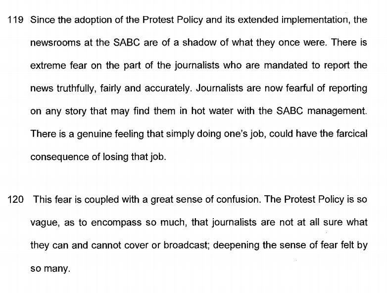Solidarity tries to stop SABC journalist-purge