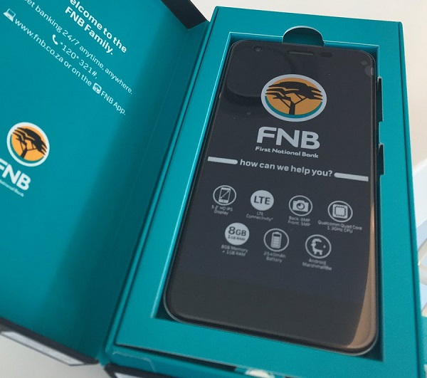 FNB launches its own FNB-branded mobile smartphone at very