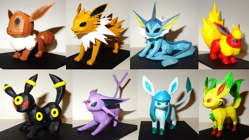 you can 3d print almost all of the eeveelutions from pokmon htxtafrica