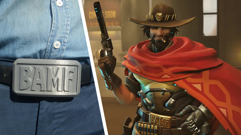 Be A Bamf With A 3d Printed Belt Buckle Modelled After