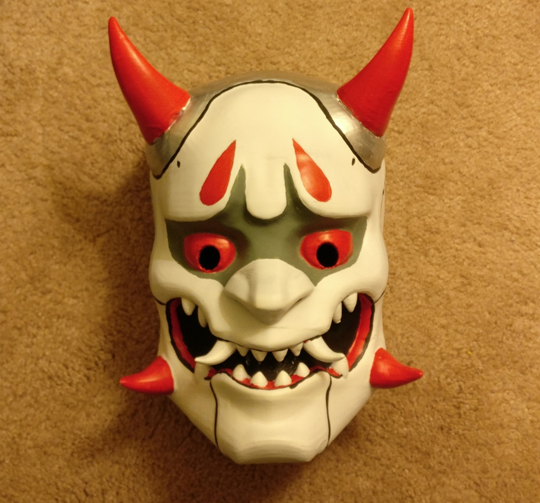 3D printed Oni Genji Mask Overwatch Pic 4 - htxt.africa Thelordoftherings
