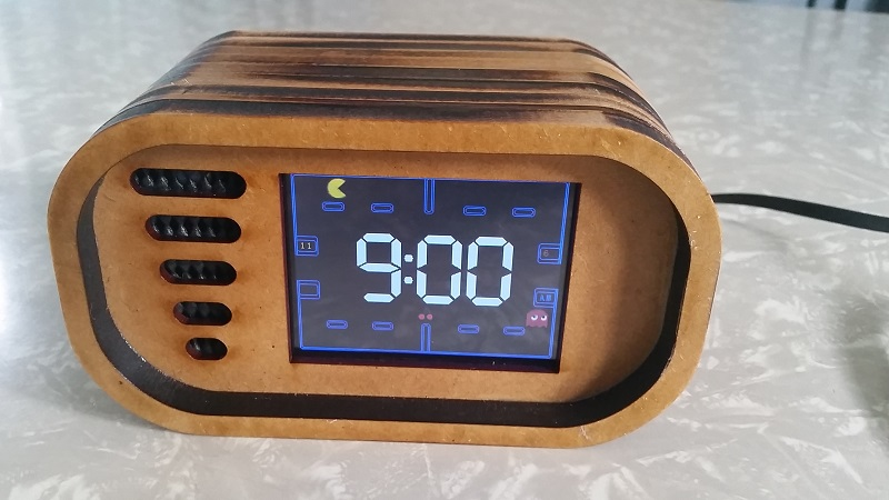 can 39 t wake up in the morning have a game of pac man on this arduino alarm clock then. Black Bedroom Furniture Sets. Home Design Ideas