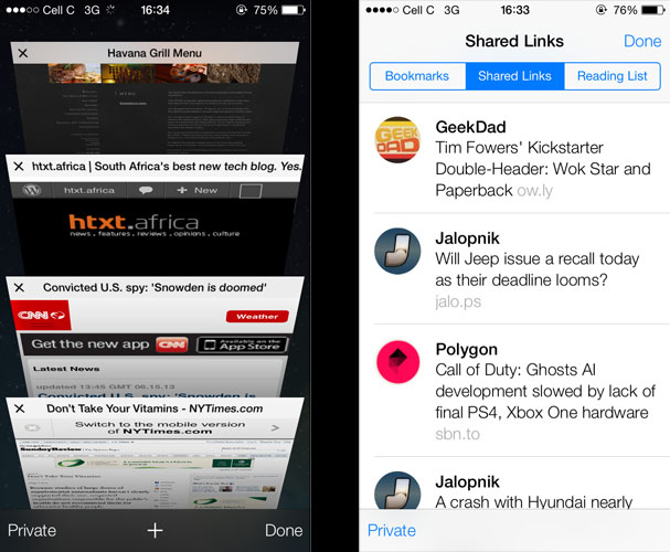 Safari is now very powerful and takes advantage of social integration.