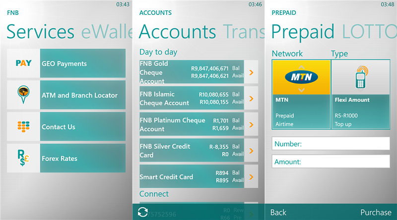 FNB App for Windows Phone