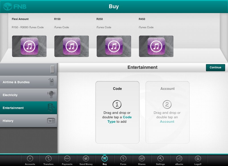Buy iTunes vouchers through the FNB app - htxt africa
