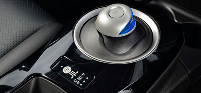 The gear shifter - one forward speed, but many driving modes.