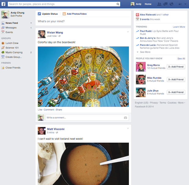 The new News Feed