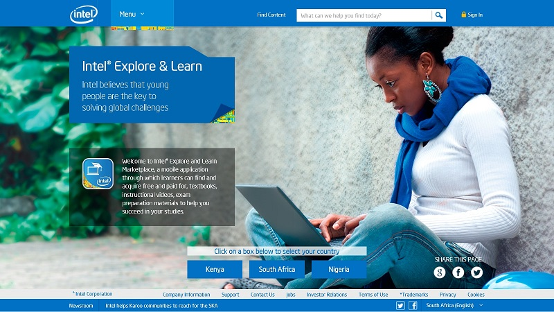 Intel Explore and Learn