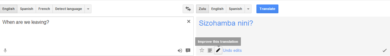 You can now correct wrong translations on Google Translate