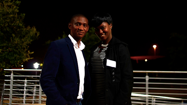 Roselinah Genu and Sandile Nonjola of North West University