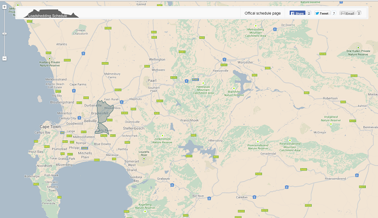 Load Shedding Johannesburg: Load Shedding In Cape Town: An Interactive Map Of Where