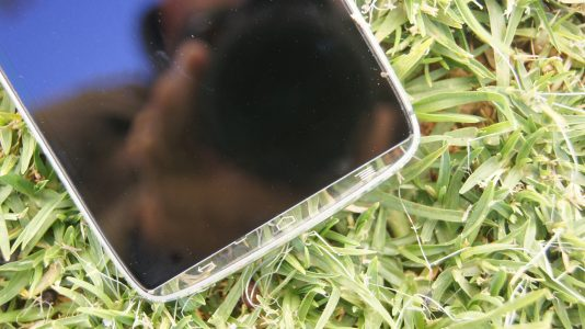 The phone has see-through edges