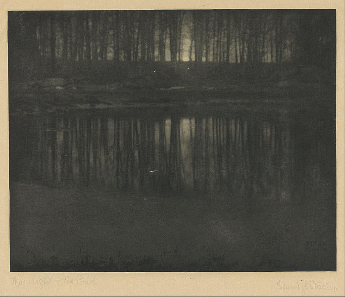 697px-Edward_Steichen_(American_-_Moonlight-_The_Pond_-_Google_Art_Project