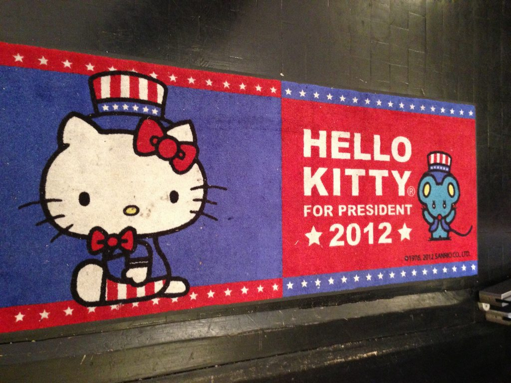 Hello KItty for President 2012 - Christian Lau on Flickr (CC BY 2.0)