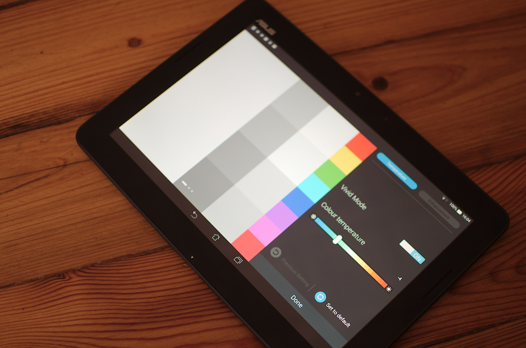 There's an app for calibrating the screen pre-installed.