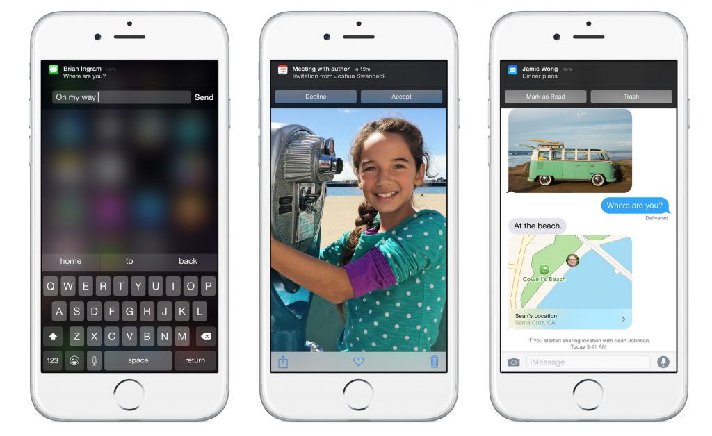 ios 8 quick response notifications