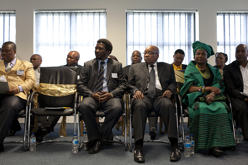 President Jacob Zuma with ANC Chairperson Baleka Mbete and Vice-Chancellor of the University of Fort Hare, Dr Mvuyo Tom at the launch of the ANC Digital Archive. Africa Media Online's Managing Director, David Larsen, got to present the ANC digital archive to the President at the soft launch of the Archive which was part of the celebration events held in 2012 to commemorate the centerary of the African National Congress.