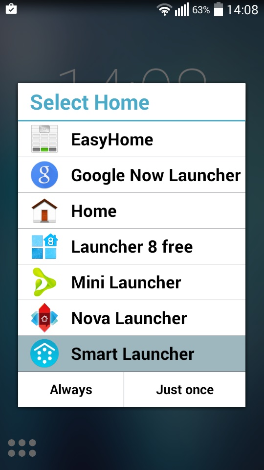 how to use go launcher as default