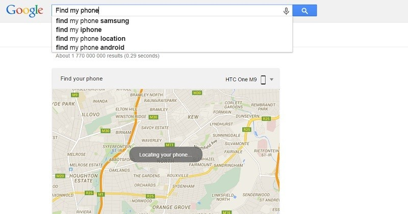 How to locate any lost or stolen Android phone using Google Search