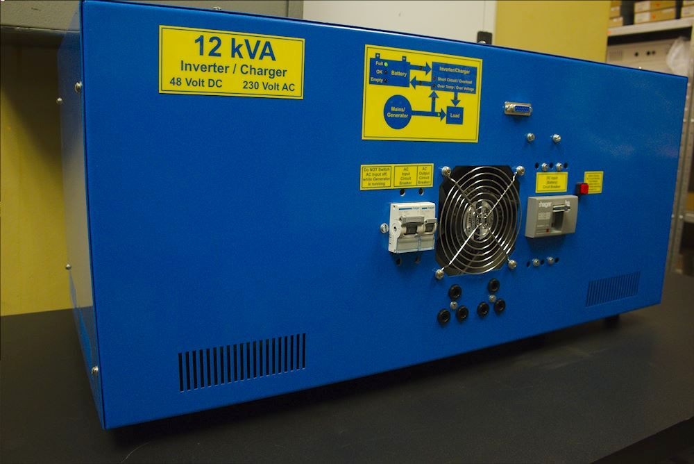 Netshield's inverter is a custom designed box built in South Africa.