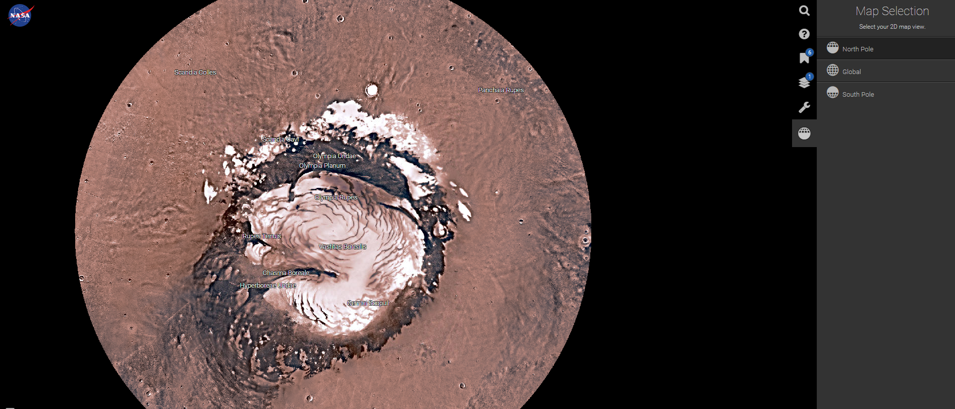 A North Pole view of Mars