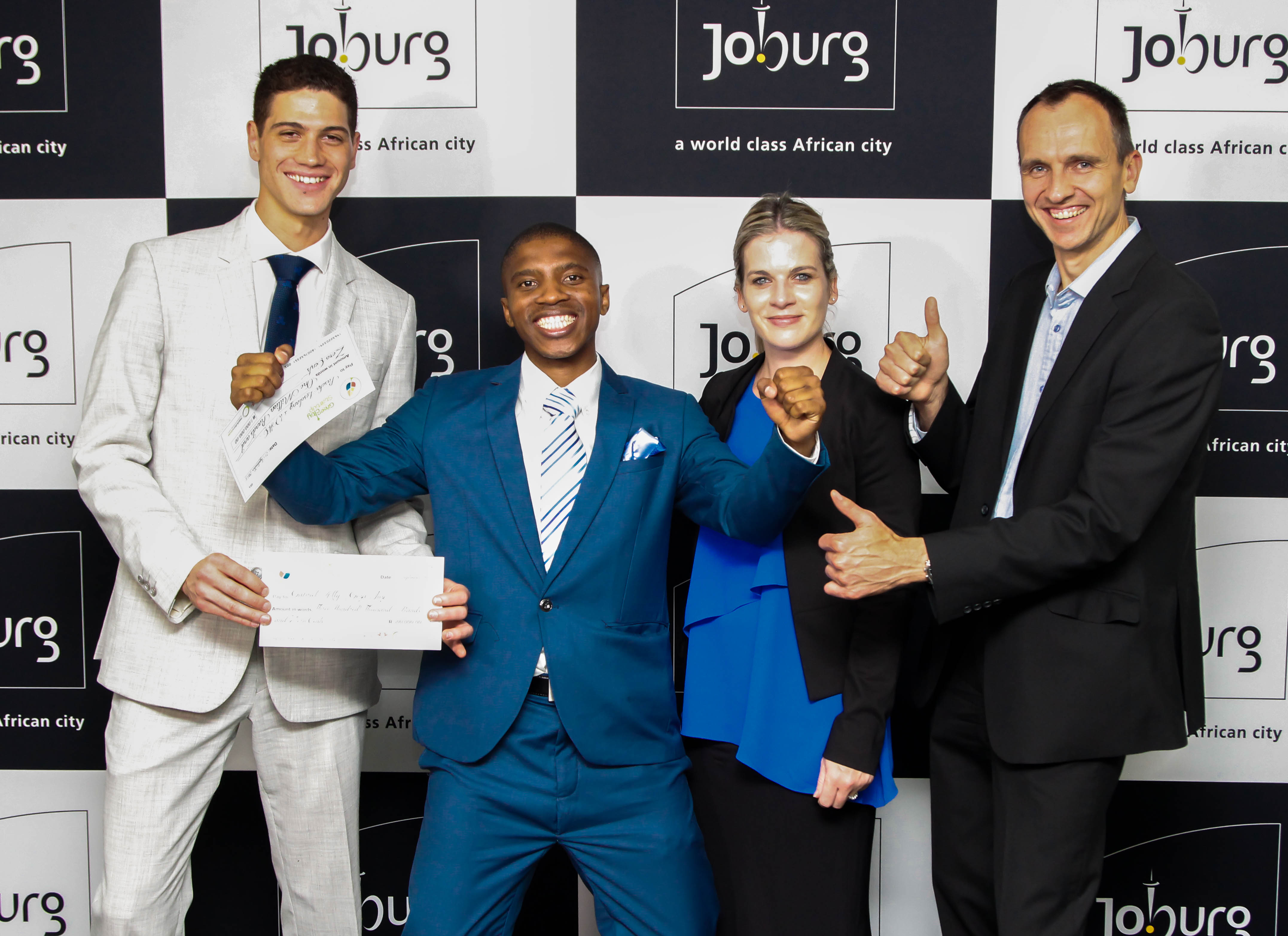 From left to right: Gabriel-Ally, Paseka-Lesolang, Yolandi-Schoeman and Sean-Moolman