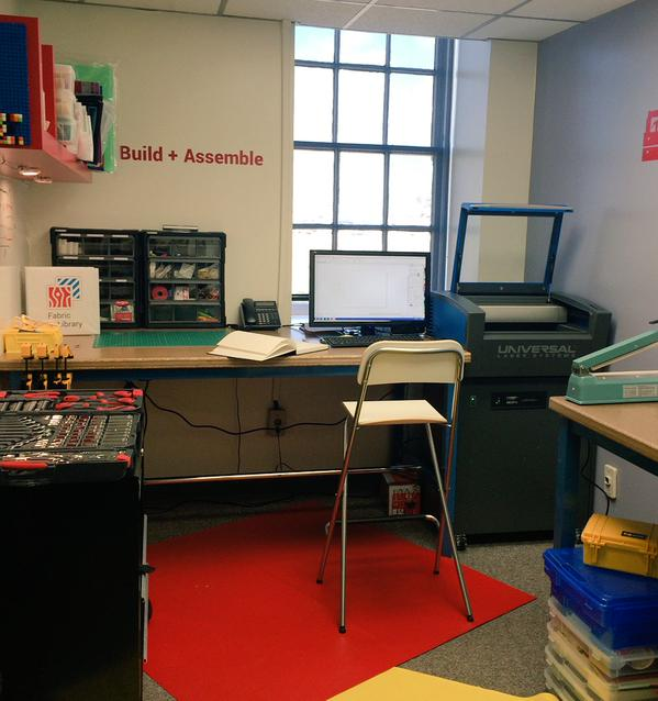 Inside the makerspace.