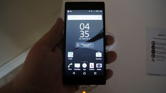 The Z5 Compact has a smaller screen but it still packs a punch