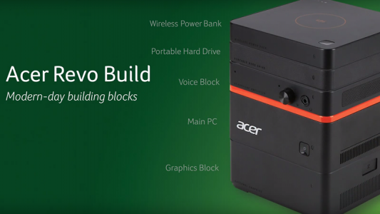 Acer's version of a modular PC was announced and features a portable hard drive and power bank.