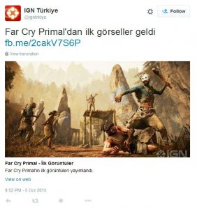 The IGN Turkey Twitter account has since been suspended.