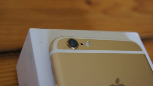 It isn't as large as the bump on the Note 5 but it does still protrude out of the body.