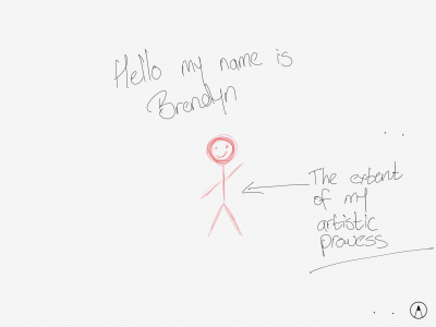 My handwriting is that untidy and I can draw that well.