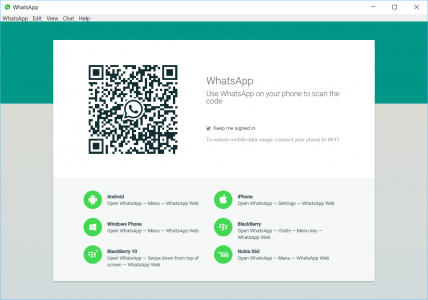 The familiar WhatsApp for Web interface should greet you once you've installed the app.
