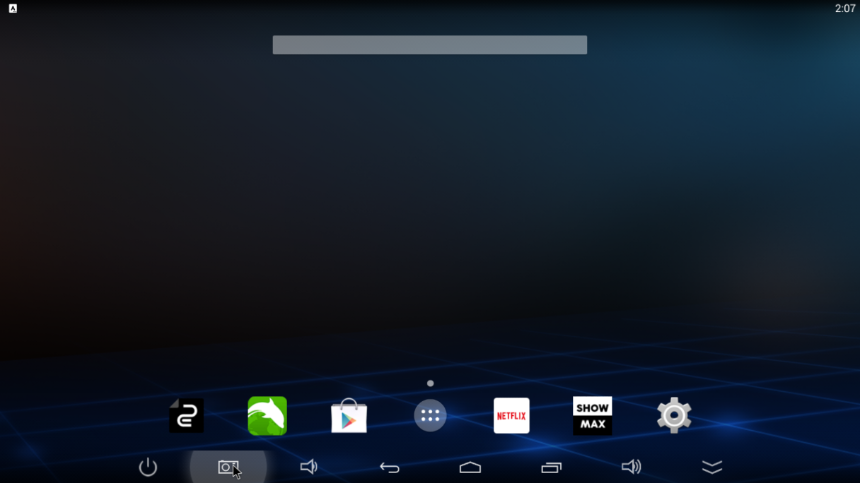 The default homescreen has everything you need for a smart TV.