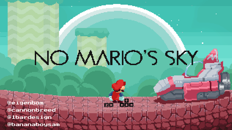No Mario's Sky is a procedurally-generated game that takes