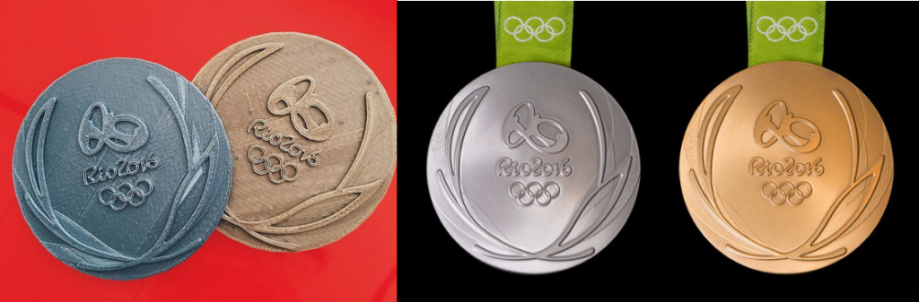 Olympic Games Rio 2016 Medals 3D Print Olympics Comparison htxt.africa