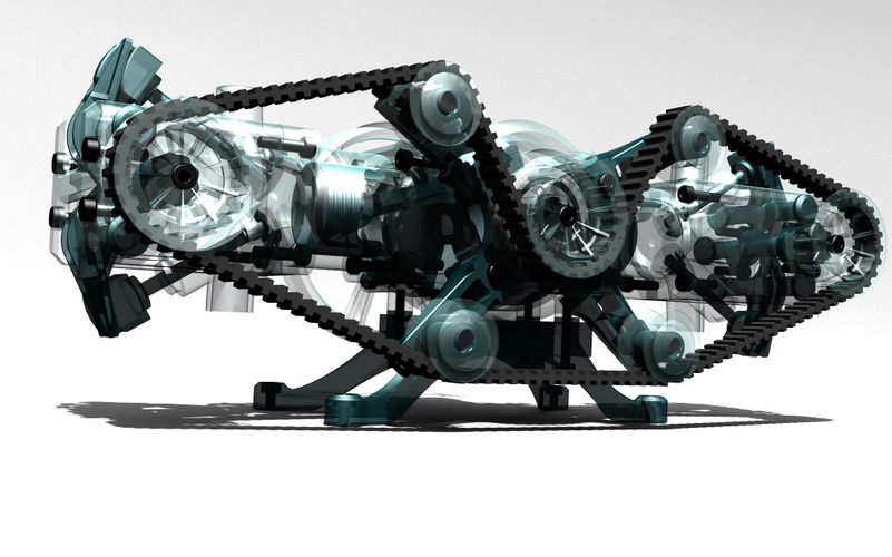 You don't need a Porsche to have a boxer engine, just 3D