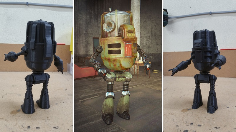 buddy the beer making robot from fallout 4 as a 3d print htxt africa