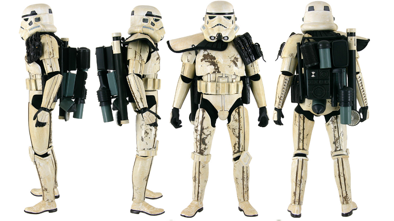 The radio of the Star Wars Sandtrooper is now a 3D print