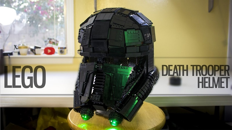 a wearable lego death trooper helmet from rogue one htxt. Black Bedroom Furniture Sets. Home Design Ideas