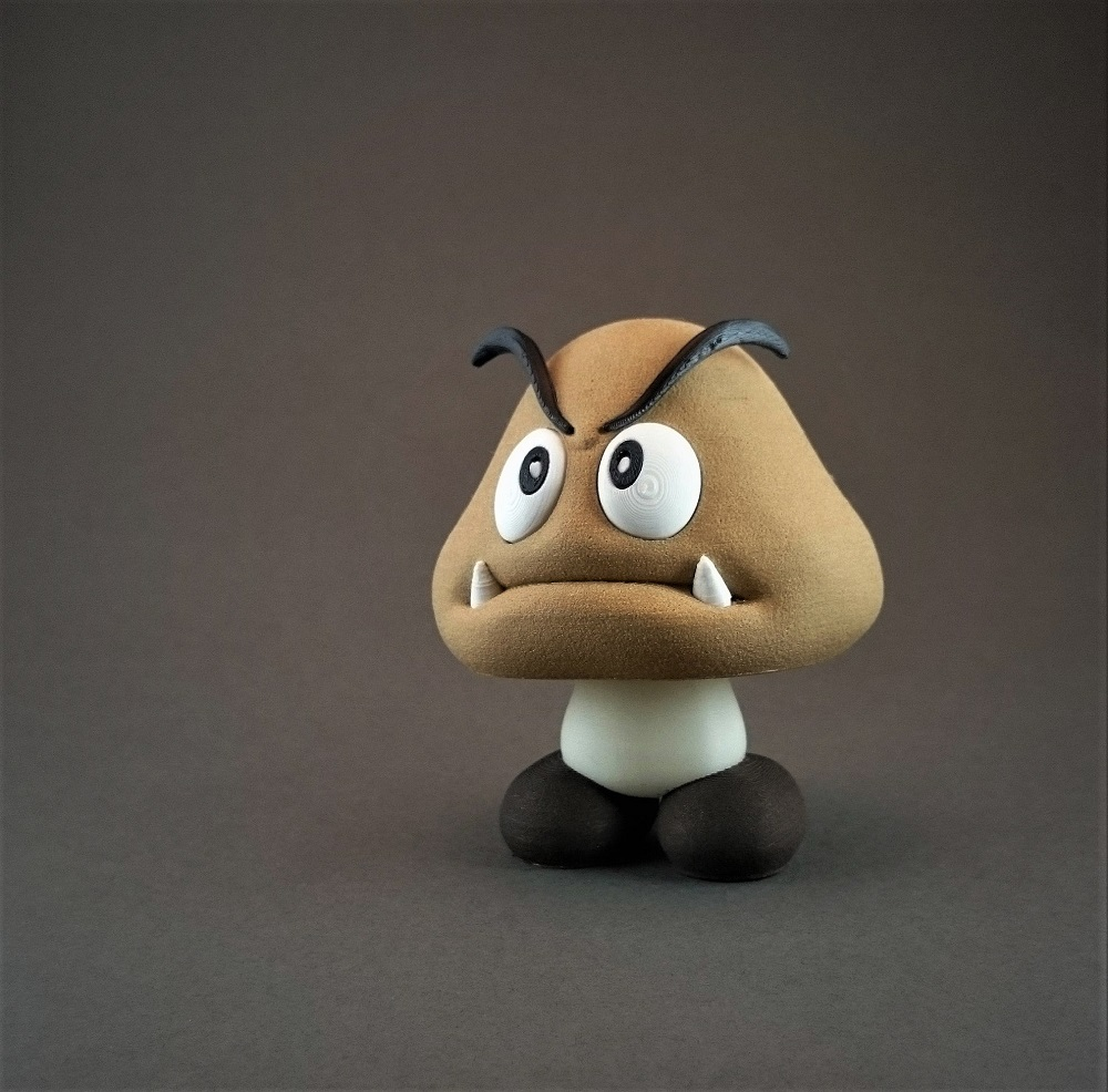 Make yourself a Goomba army from Mario by 3D printing them