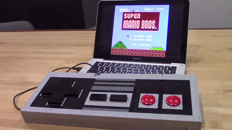 Play games on this giant arduino nes controller made out