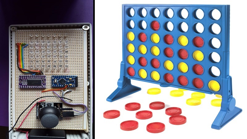 Arduino project Connect Four Header Image htxt.africa 2