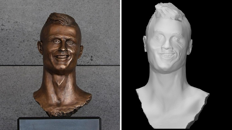 Cristiano Ronaldo 3D Printed Bust Header Image htxt.africa